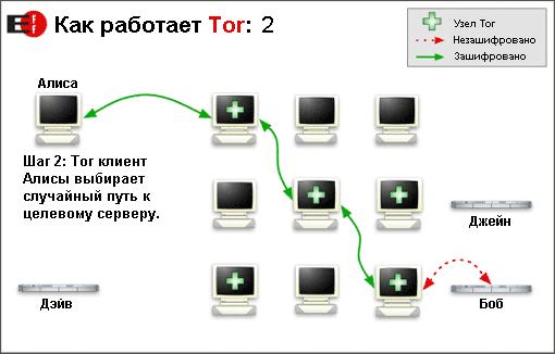 Схема работы сети Tor (34Кб)